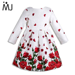 Girl Dress Long Sleeve 2016 Brand Princess Dress Girls Clothes Rose Flower Kids Dresses for Girls Costumes - GKandAa - 1