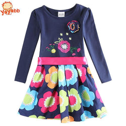 2016 New Autumn Spring Casual Girl Dress Floral Kids Dresses For Baby Girls High Quality Girls Party Princess Dresses - GKandAa