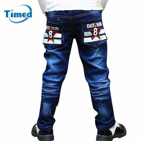 4-11 Year Kids Casual Jeans 2016 New Fashion Boy Embroidery Jeans High Quality Children Denim Pants Free Shipping - GKandAa - 1