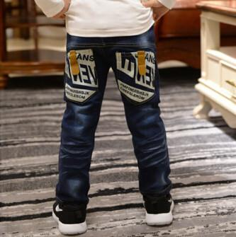 Boys Jeans 4-11 Years Casual Embroidery pants-GKandaa.net
