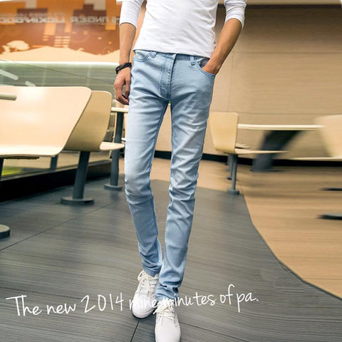 Men's Jeans Straight Mid Waist pants Casual Classical-GKandaa.net