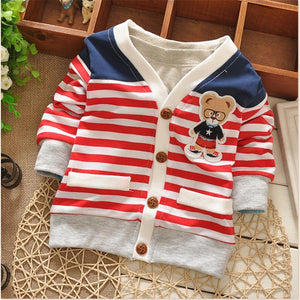 Boys Sweaters spring outwear bear knit-GKandaa.net