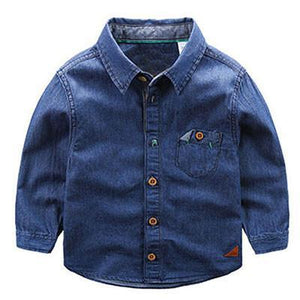 Boys Shirts Blouses Spring 2-6Years Sleeve-GKandaa.net