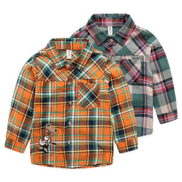 Boys Shirts Children Cotton School Blouse-GKandaa.net