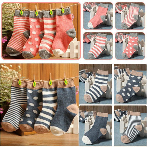 Boys Socks Set of 4 Pairs Toddler cotton Stripe-GKandaa.net