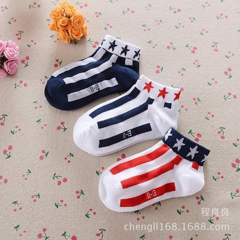 Boys Socks mesh boat stripes star cotton 1-10Year-GKandaa.net