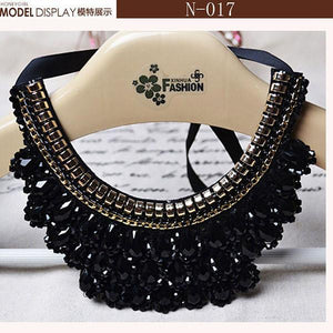 Vintage Beaded Collar made-up Lace-GKandaa.net