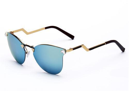 Women's Sunglasses CAT eye 7 color vintage METAL frame-GKandaa.net