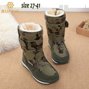 Girls  winter boots camouflage waterproof popular - GKandaa.net