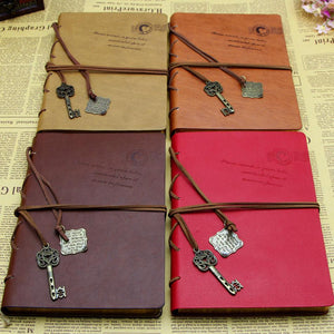 Vintage Notebook Newest Magic Key Retro Leather Cover Journal Diary-GKandaa.net