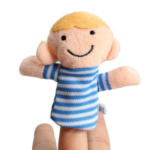 Children's puppet finger Doll 6Pcs Family Educational Toy-GKandaa.net