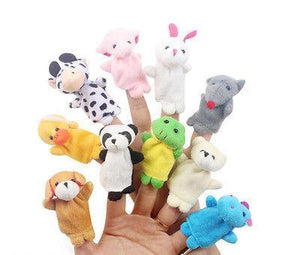 Children's puppet finger Doll 10pcs Play Game Lear Story Velvet-GKandaa.net