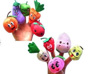 Children's puppet finger Doll 10pcs/Set Fruit Set Kid Educational Toy-GKandaa.net