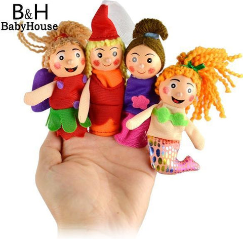 Children's puppet finger Doll 4PCS Educational-GKandaa.net