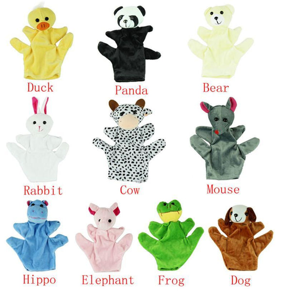 Children's puppet finger Doll Zoo Farm Glove Plush Toy-GKandaa.net