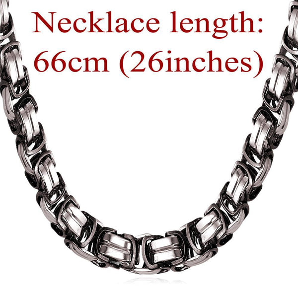 "Necklaces Stainless Steel ""316L"" Stamp 9MM c 18K Gold Plated GN1149-GKandaa.net"