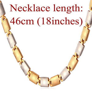 "Necklaces ""18K"" Gold Stamp Pu 18K Gold Plated 55CM 6MM N827-GKandaa.net"