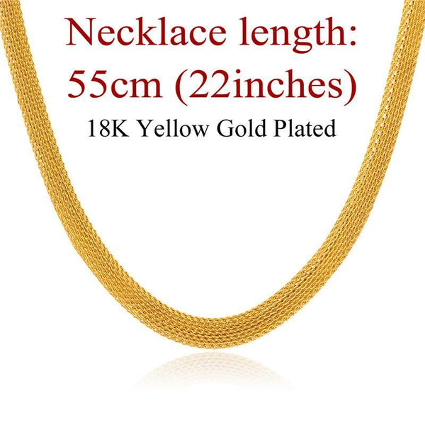 Necklaces '18K' Stamp stainless Steel / 18K Gold Plated GN738-GKandaa.net
