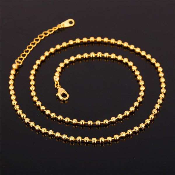 Necklaces Gift 48CN+5CM LiK 18K Real Gold Plated N879-GKandaa.net