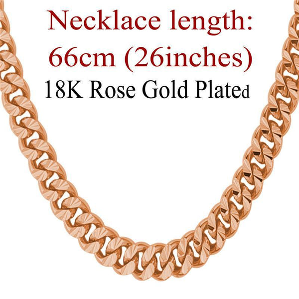 Rose Gold lace Rose Gold/18K Real Gold Plated 6MM Kpop Collares Cuba-GKandaa.net
