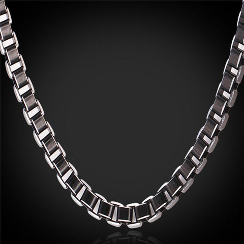Men's Chain Necklace Stainless Steel  6MM 46CM / 55CM / 66CM vintage-GKandaa.net