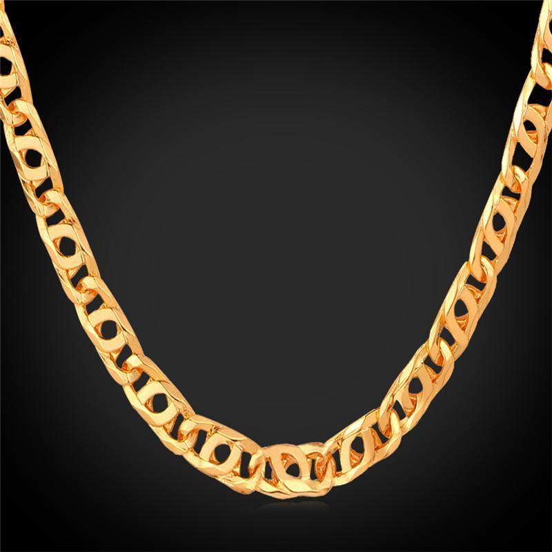Necklaces laces / Gift Cool 55CN LiK 18K Real Gold Plated N848-GKandaa.net