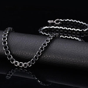 Men's Chain Necklace Stainless Steel 6MM 55CM 22'' Link Chain - Gkandaa.net