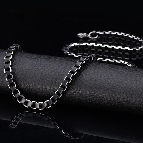 Men's Chain Necklace Stainless Steel 6MM 55CM 22'' Link Chain-GKandaa.net