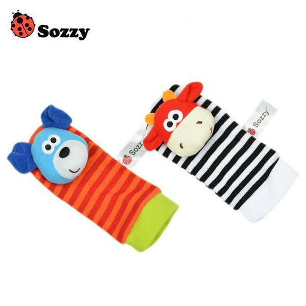 Baby Socks 2pcs Soft Toy Wrist Strap Cute Garde-GKandaa.net