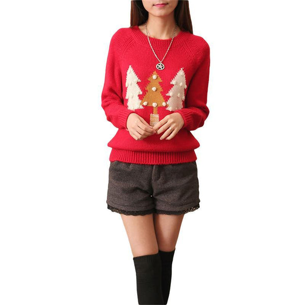 Women's Pullovers standard wool sweater-GKandaa.net