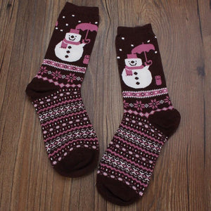 Women's Socks Girl cotton Christmas Socks-GKandaa.net
