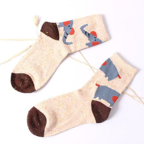 Women Christmas Socks Gift Wool-GKandaa.net