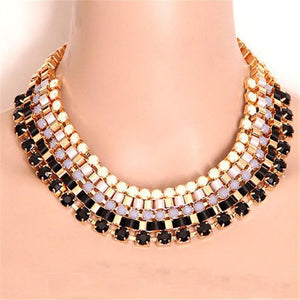 Vintage Collar Multilayer Luxury Lace Beads Chokers Necklaces-GKandaa.net