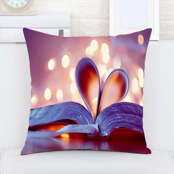 Heart Book Vintage Luxury Printing Pillow Case Two Sides Printing - GKandAa - 1