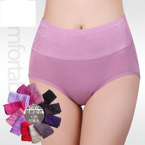 Women's Panties ZW90 Modal High Waist Breathable Briefs-GKandaa.net