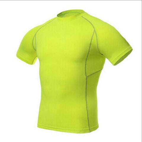 Men's T-Shirts Fashion Sports Athletic Shirt Layer Short-GKandaa.net