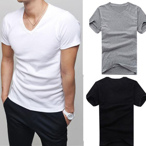 Men's T-Shirts Fashion high-elastic cotton-GKandaa.net