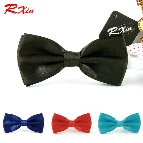 Men's Bow Ties Solid Color Adults party butterfly cravat-GKandaa.net