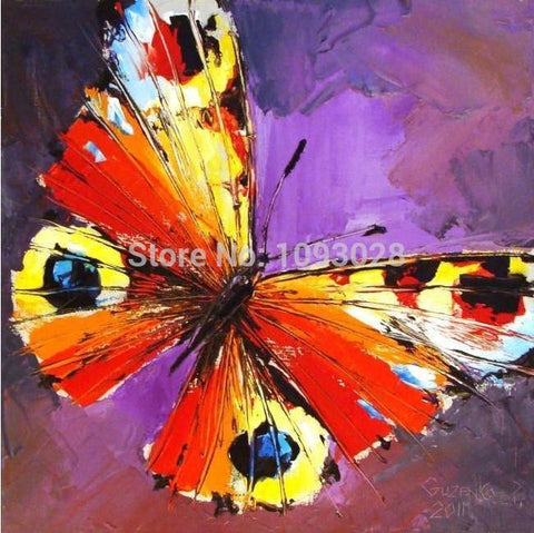 Art Oil Hand-painted picture 100% home-made Popular Butterfly Of No-GKandaa.net