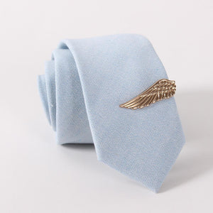 Men's Tie Clips Wallet Clasp Business Wings Shape Gold Alloy Plated - Gkandaa.net