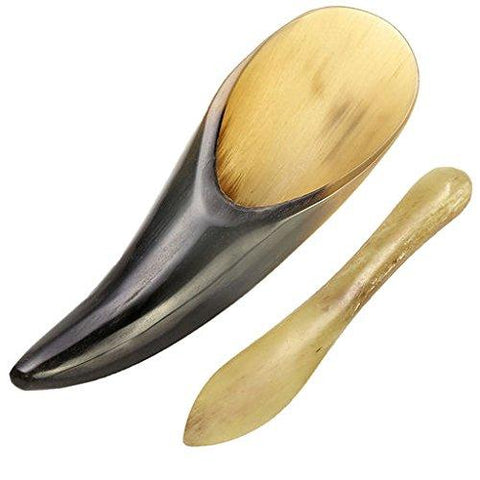 100% Hand Made Buffalo Horn Sha Board Acupuncture  Chinese Scraper Tools Set, Pack of 2