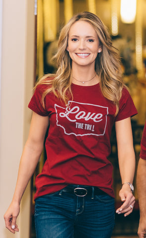 *NEW* Women's State Tee in Coug Crimson