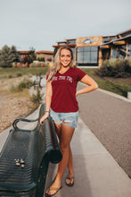 Load image into Gallery viewer, *New* Women's University tee in dark red