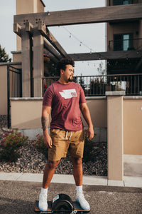 *NEW* Men's State tee in burgundy
