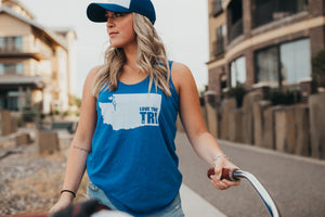 Women's State tank in royal blue