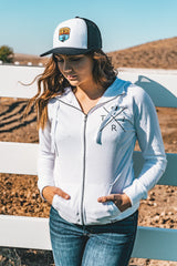 Women's X Heart zip hoodie jacket