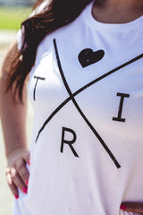 Women's X Heart t-shirt in white