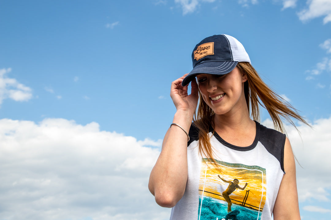 Women's Surf The Columbia muscle tee