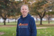 Load image into Gallery viewer, Men's TRI-C hoodie in navy