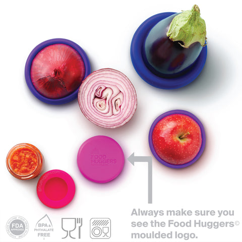 Set of Five Food Huggers® - Bright Berry